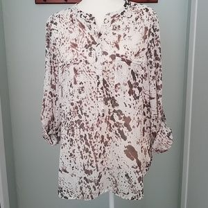 LOFT Splatter Popover Tunic Size Medium
